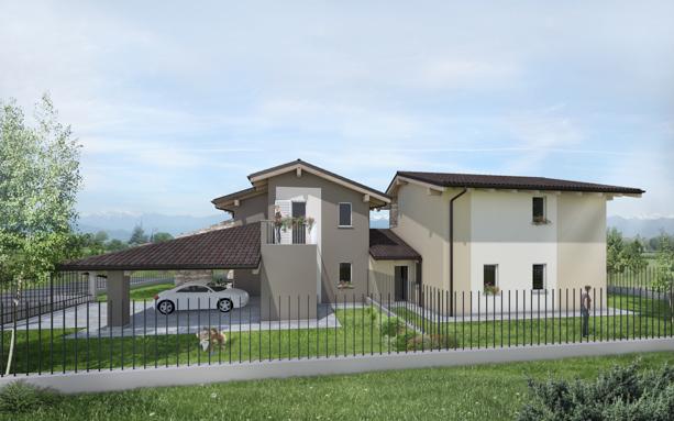 villa in bioedilizia barra&barra a san bernardo di cervasca - cuneo - visuale laterale