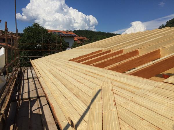 Cantiere biocasa prefabbricato in legno a Roppolo Biella 05