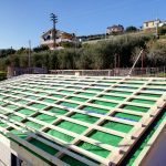 Cantiere di villa con prefabbricato in legno a Riva Ligure Imperia 02